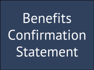 Don't Throw Away Your Benefits Confirmation Statement