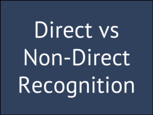 Direct Recognition vs Non-Direct Recognition (Does It Matter?)